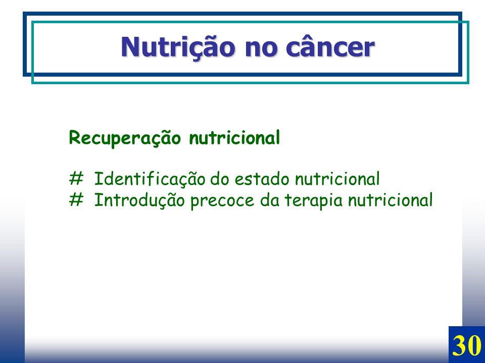 30 Nutrição no câncer Recuperação nutricional