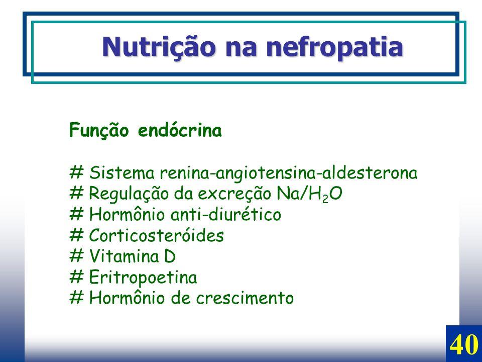 40 Nutrição na nefropatia Função endócrina