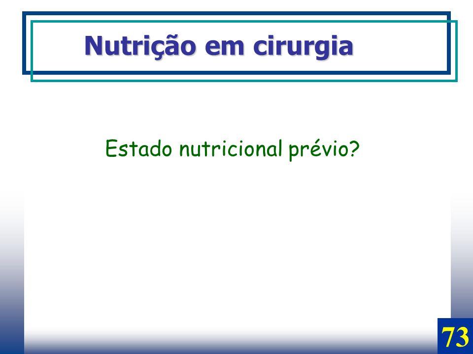 Estado nutricional prévio