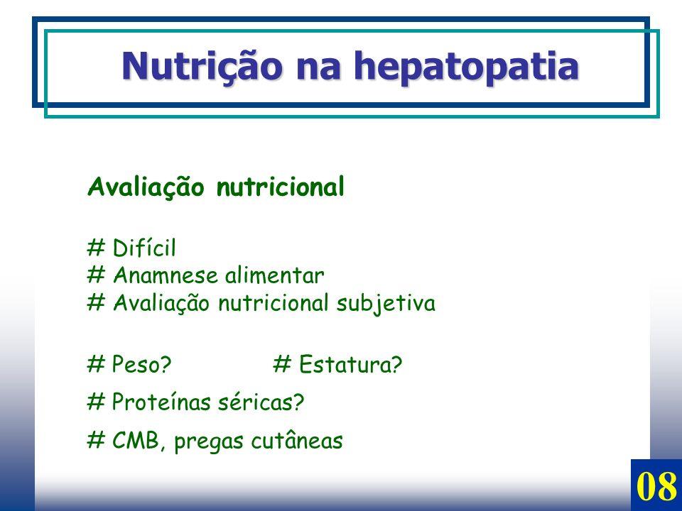 08 Nutrição na hepatopatia Avaliação nutricional # Difícil