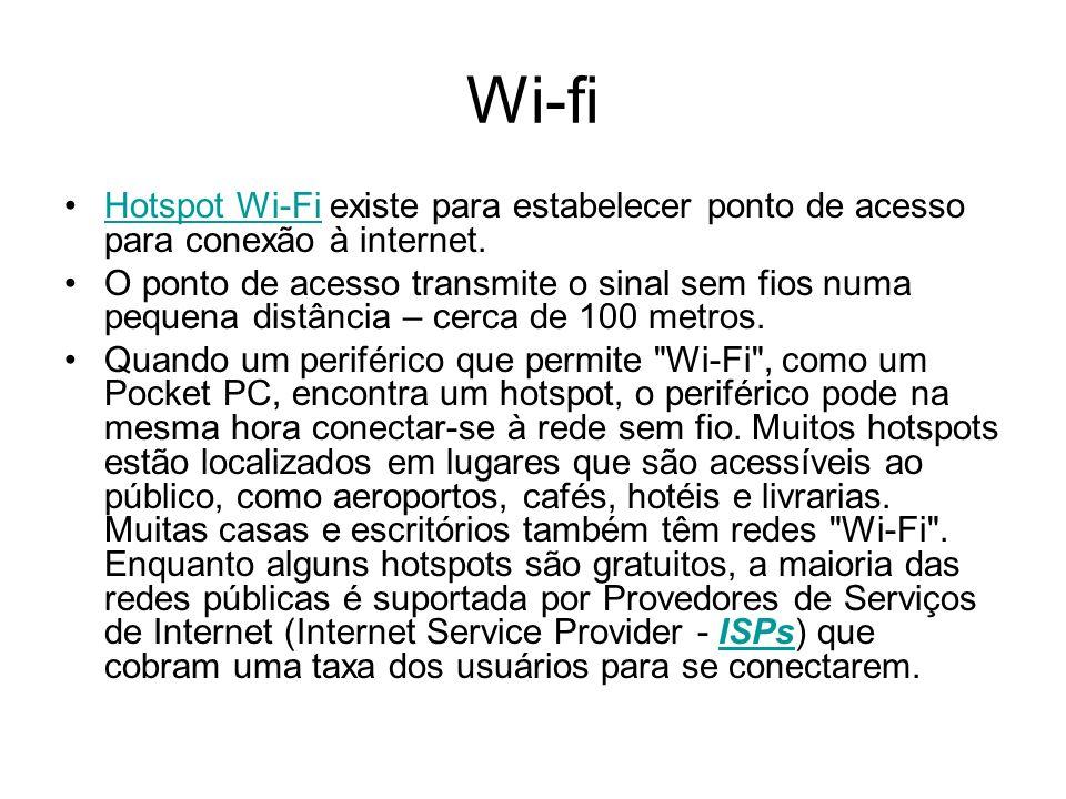 Wi-fi Hotspot Wi-Fi existe para estabelecer ponto de acesso para conexão à internet.