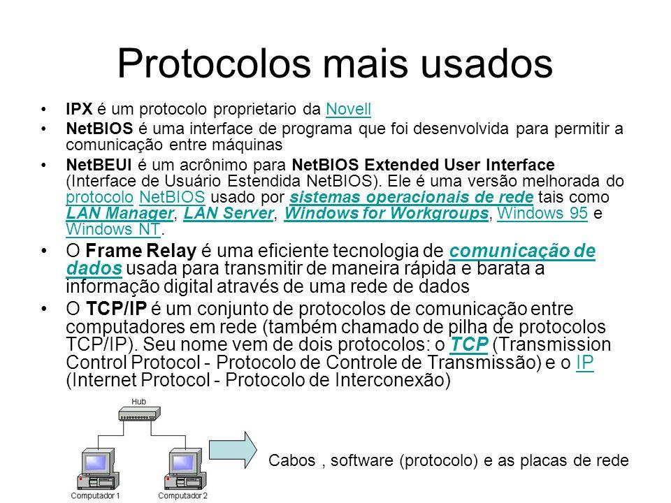 Protocolos mais usados