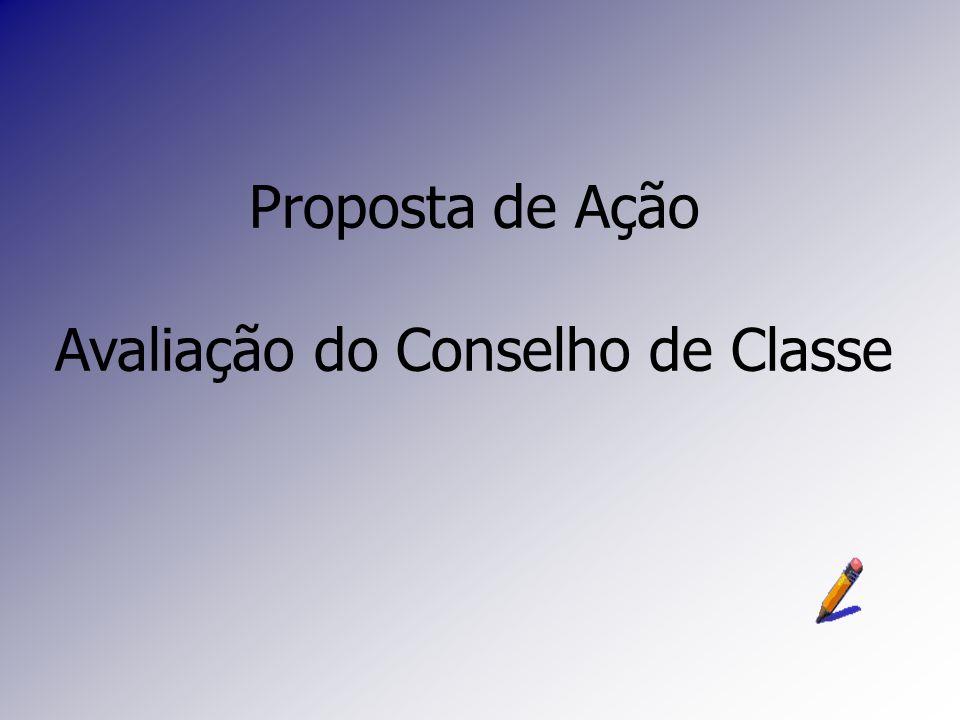 Proposta de Ação Avaliação do Conselho de Classe