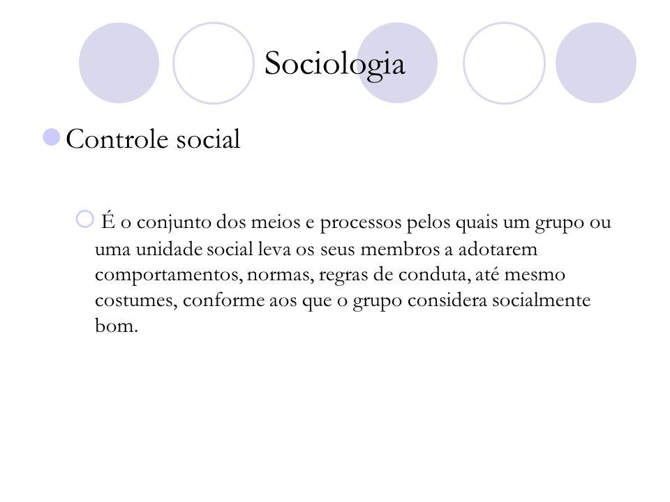 Sociologia Controle social
