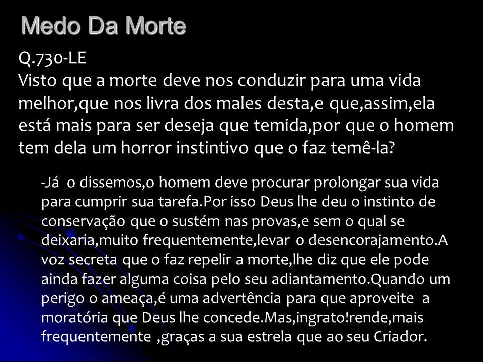 Medo Da Morte Q.730-LE.