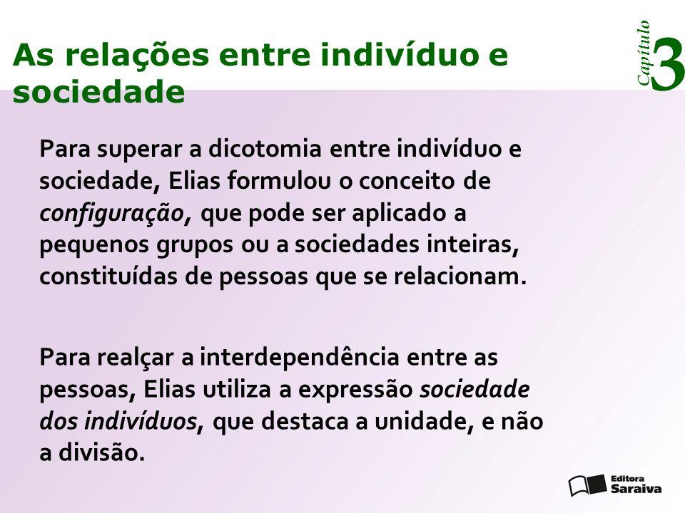 3 As relações entre indivíduo e sociedade