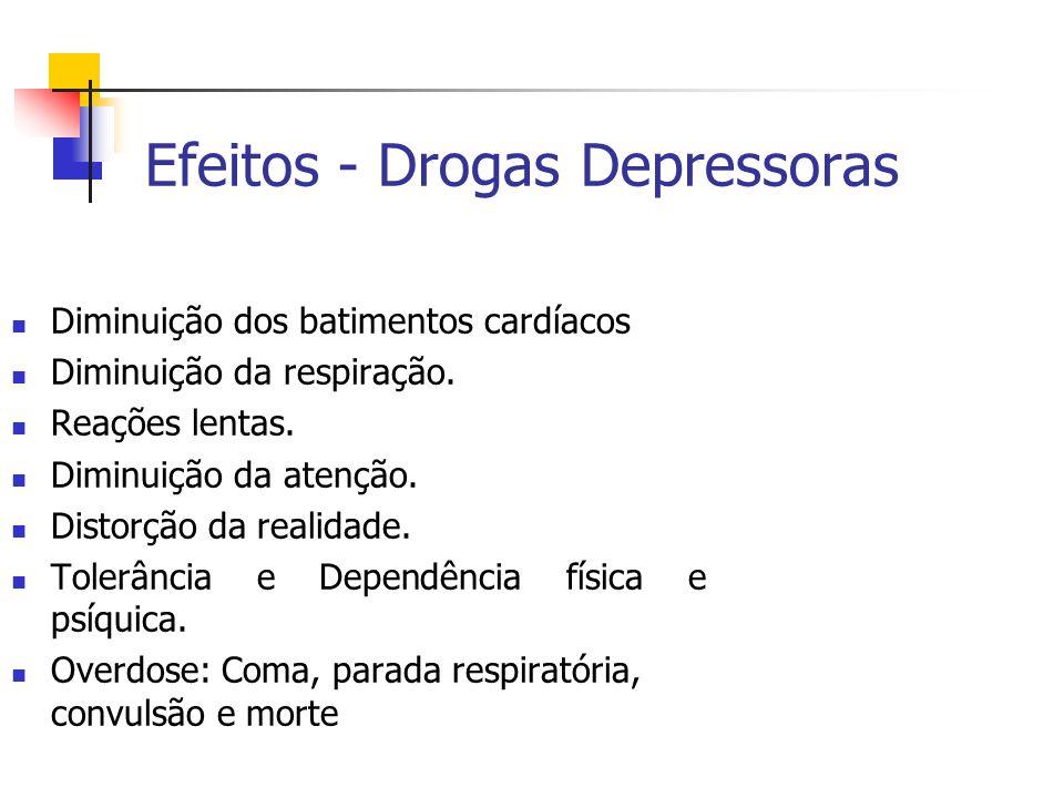 Efeitos - Drogas Depressoras