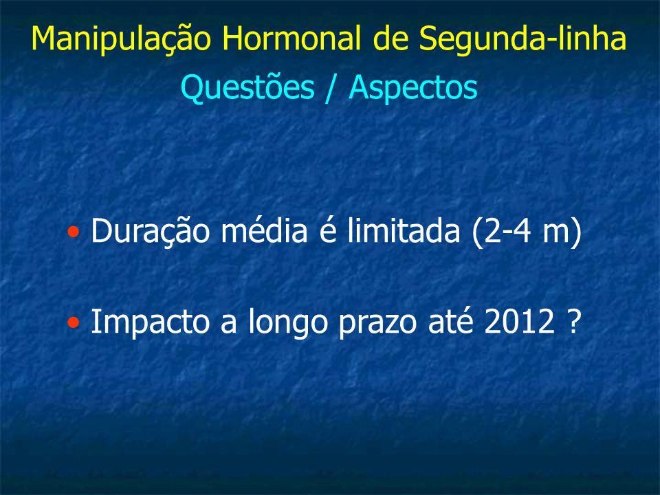 Manipulação Hormonal de Segunda-linha Questões / Aspectos