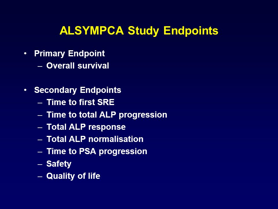 ALSYMPCA Study Endpoints