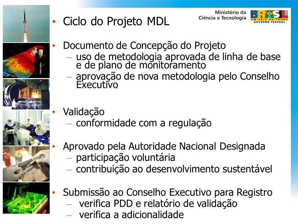 Ciclo do Projeto MDL Documento de Concepção do Projeto