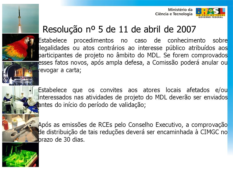 Resolução nº 5 de 11 de abril de 2007