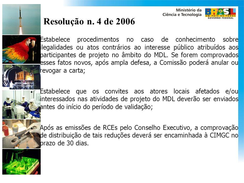 Resolução n. 4 de 2006