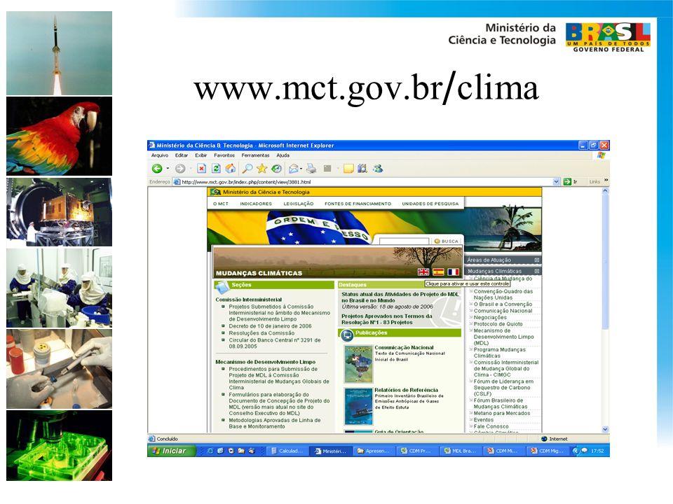 www.mct.gov.br/clima