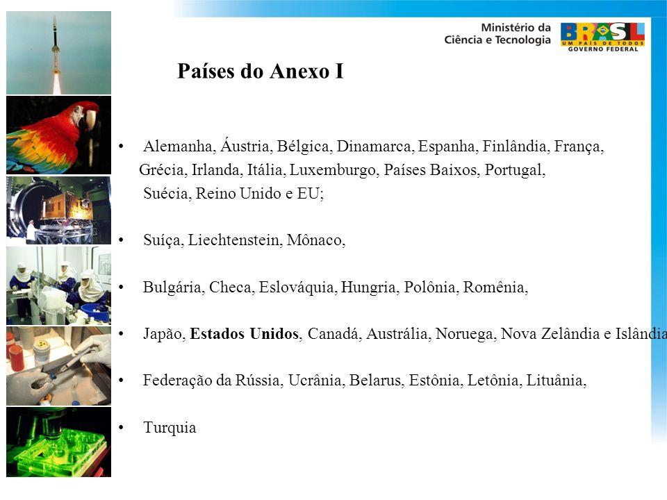 Países do Anexo I Alemanha, Áustria, Bélgica, Dinamarca, Espanha, Finlândia, França, Grécia, Irlanda, Itália, Luxemburgo, Países Baixos, Portugal,