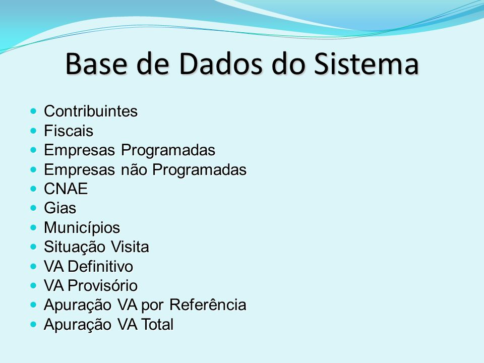 Base de Dados do Sistema