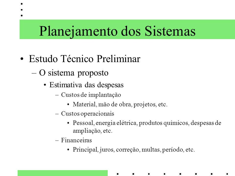Planejamento dos Sistemas
