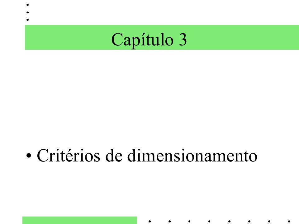 Capítulo 3 Critérios de dimensionamento