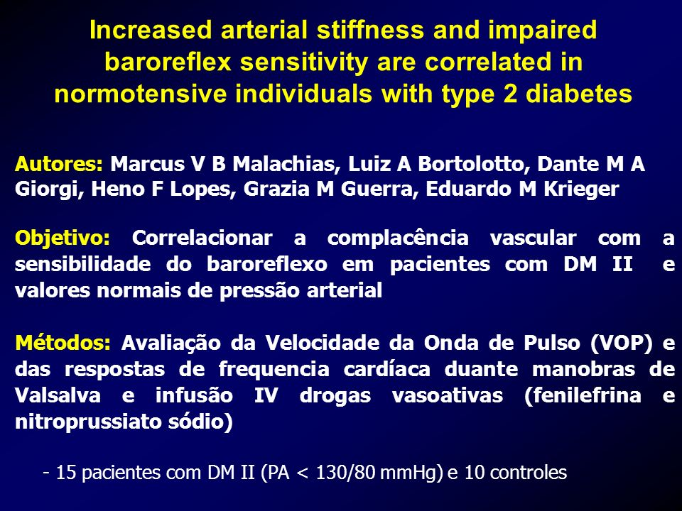 Increased arterial stiffness and impaired baroreflex sensitivity are correlated in normotensive individuals with type 2 diabetes