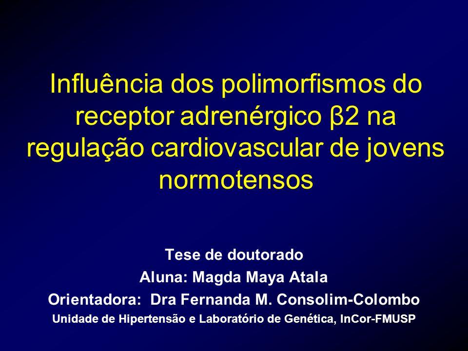 Influência dos polimorfismos do receptor adrenérgico β2 na regulação cardiovascular de jovens normotensos
