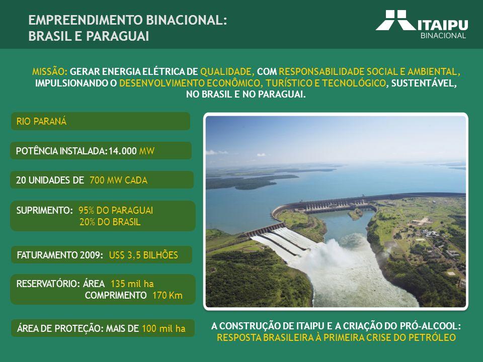 EMPREENDIMENTO BINACIONAL: BRASIL E PARAGUAI