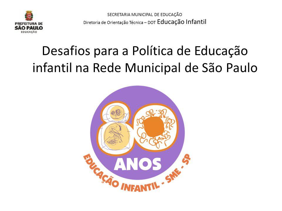 Desafios para a Política de Educação infantil na Rede Municipal de São Paulo
