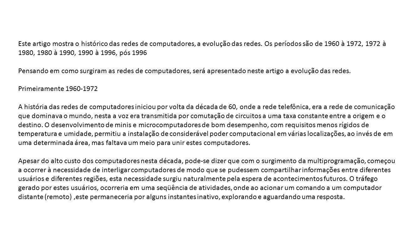 O Mundo Inteiro Espera A Resposta De Maria: Redes De Computadores Prof. Horácio Junior.