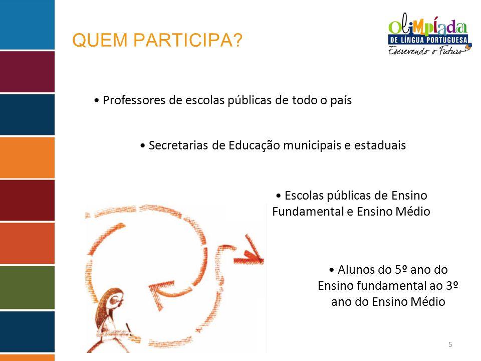 QUEM PARTICIPA • Professores de escolas públicas de todo o país