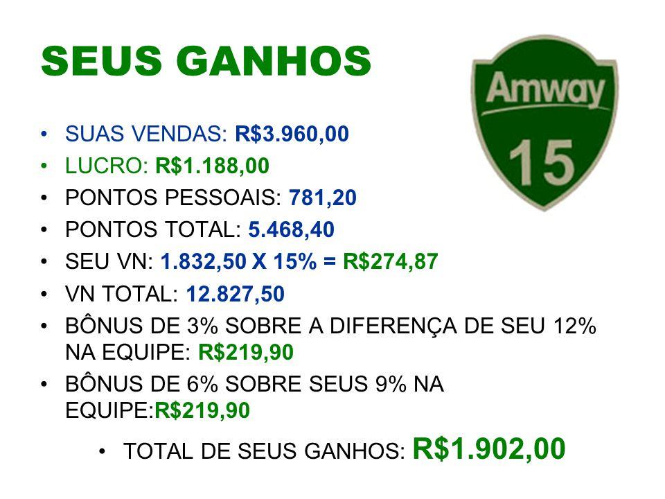 TOTAL DE SEUS GANHOS: R$1.902,00