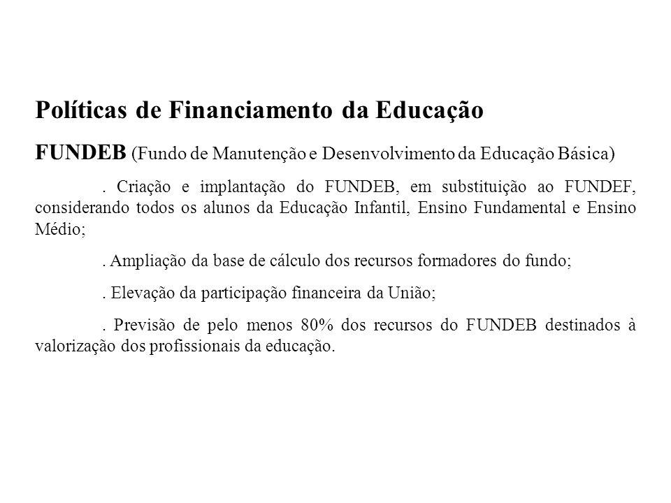 Políticas de Financiamento da Educação
