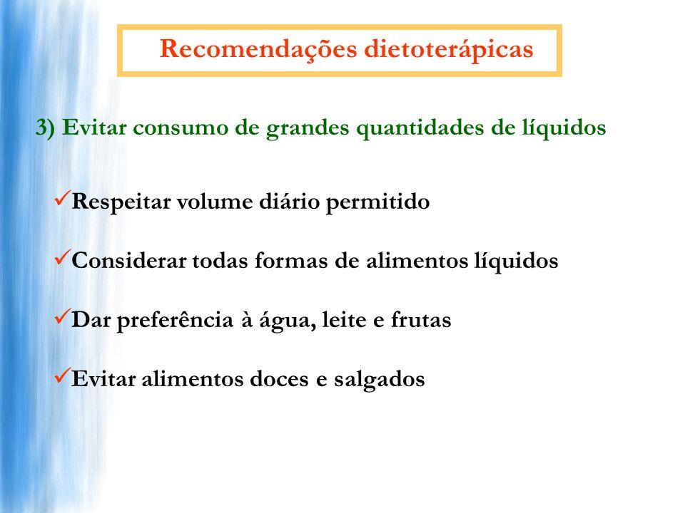 Recomendações dietoterápicas