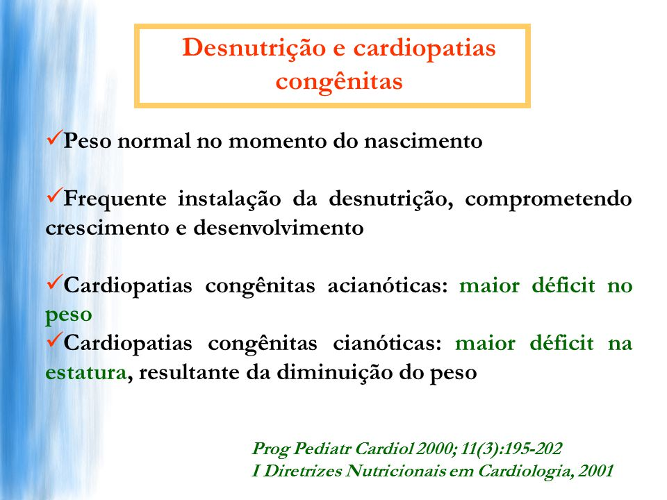 Desnutrição e cardiopatias congênitas