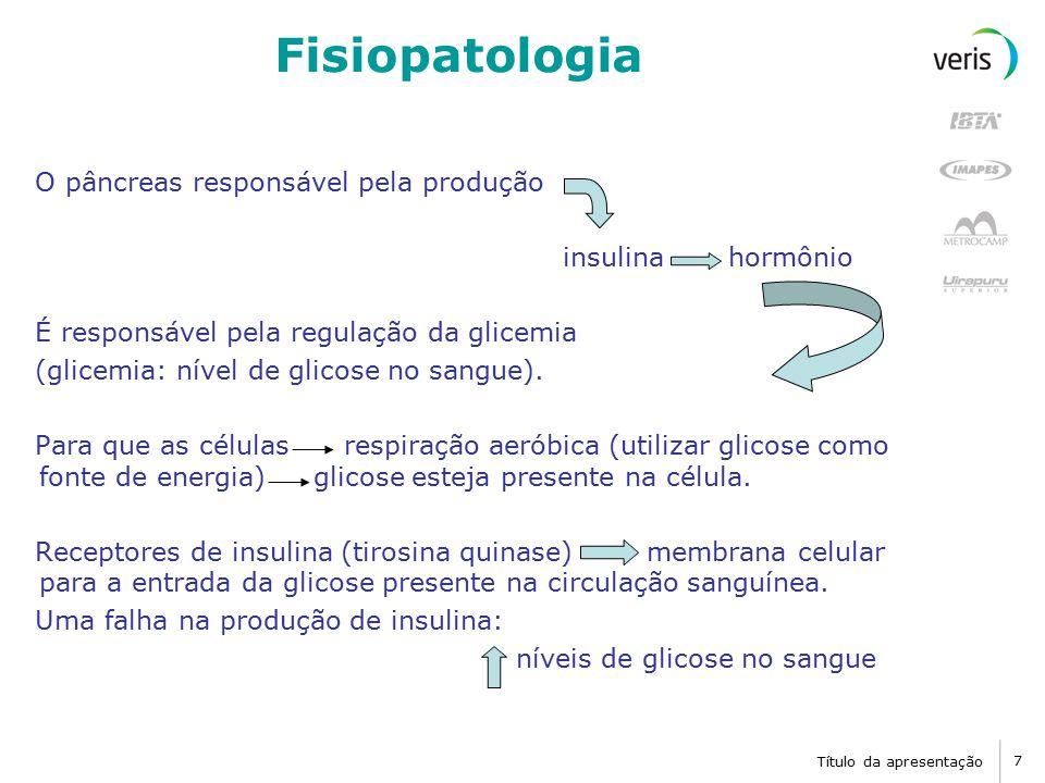 Fisiopatologia O pâncreas responsável pela produção insulina hormônio