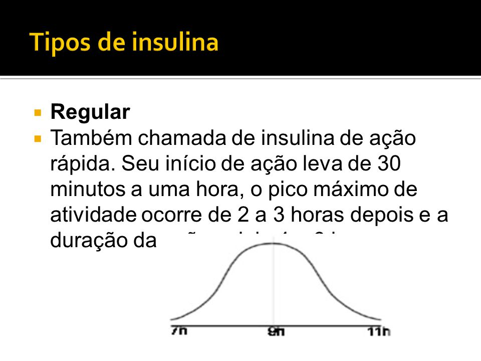 Tipos de insulina Regular
