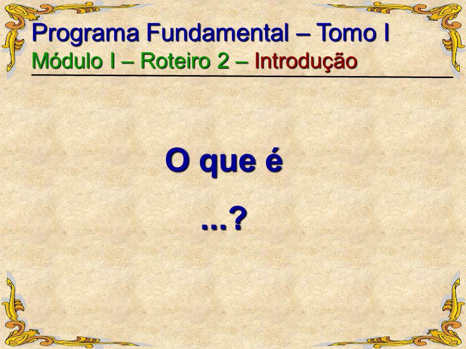 O que é ... Programa Fundamental – Tomo I