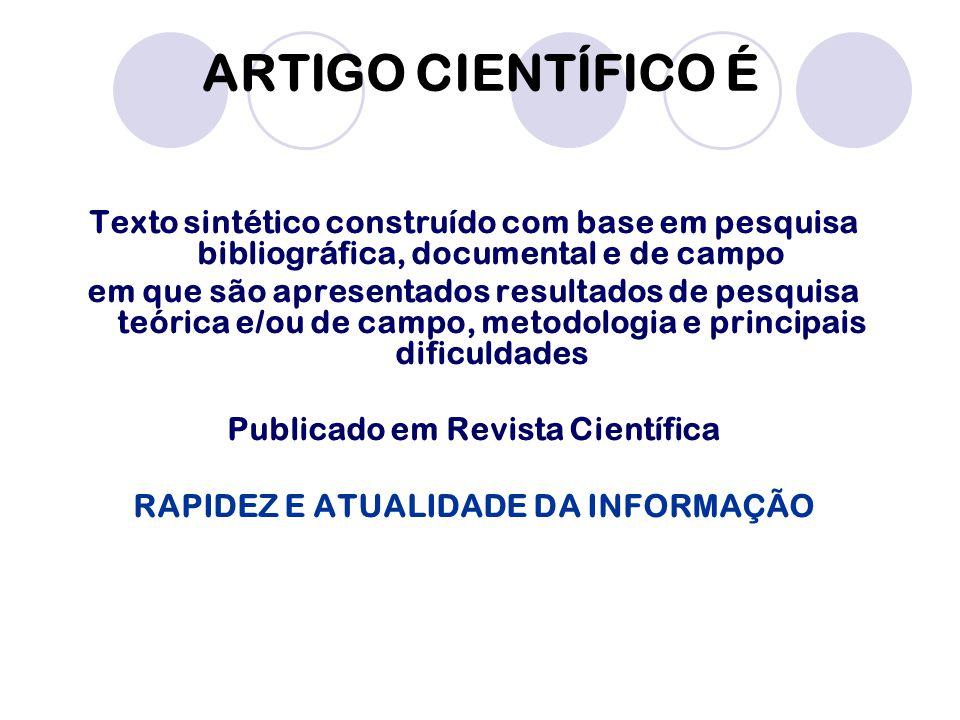 Publicado em Revista Científica RAPIDEZ E ATUALIDADE DA INFORMAÇÃO