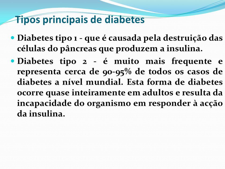 Tipos principais de diabetes