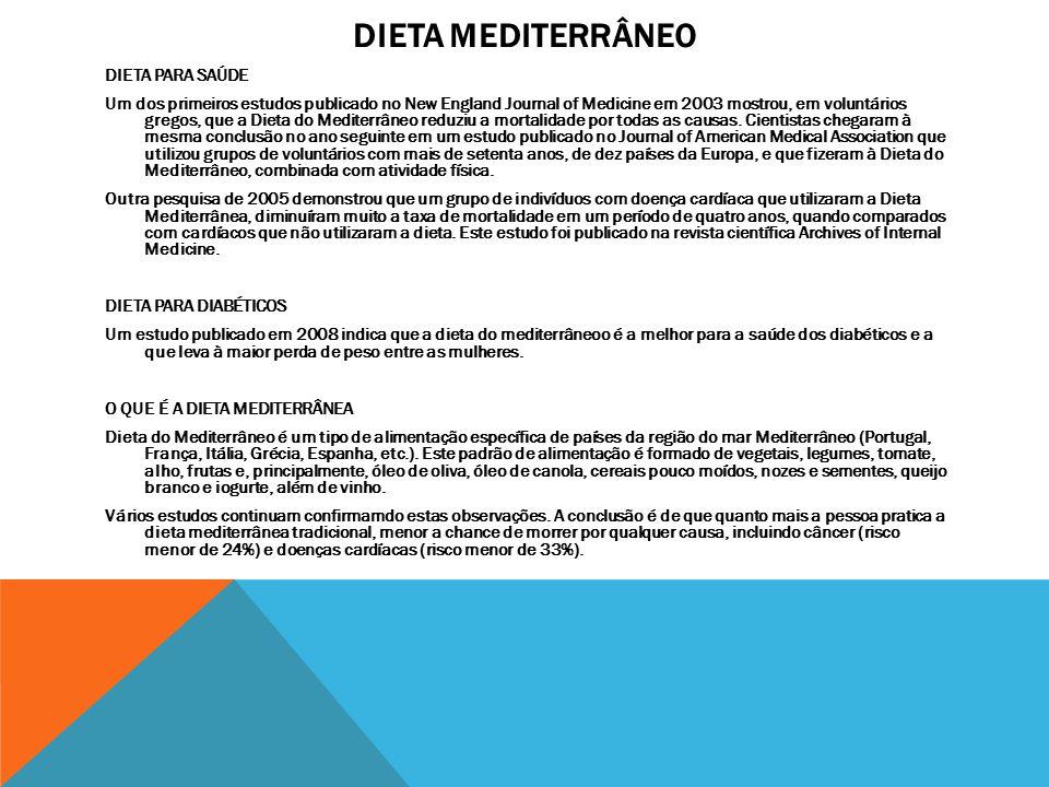 DIETA MEDITERRÂNEO