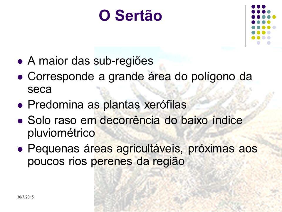 O Sertão A maior das sub-regiões