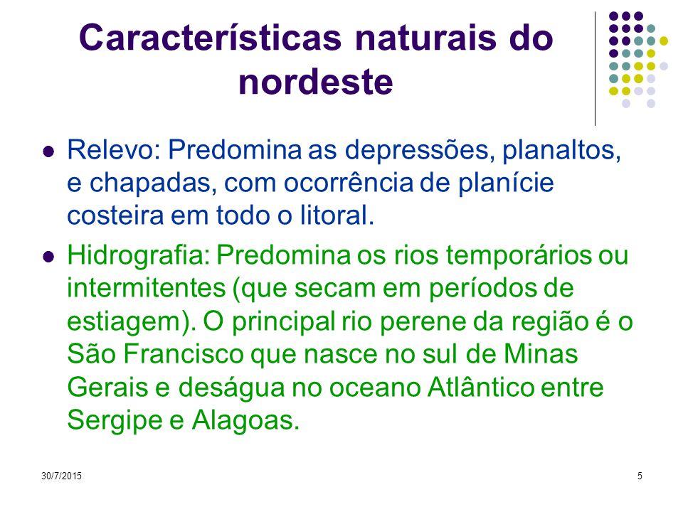Características naturais do nordeste