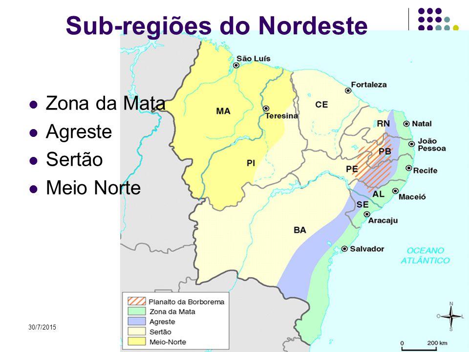 Sub-regiões do Nordeste