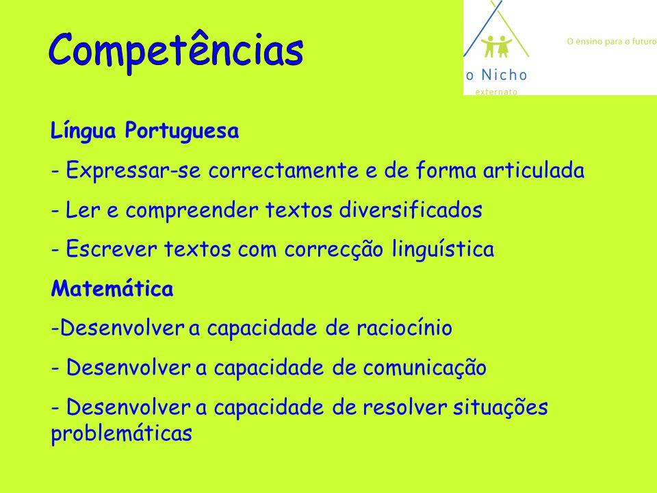 Competências Língua Portuguesa