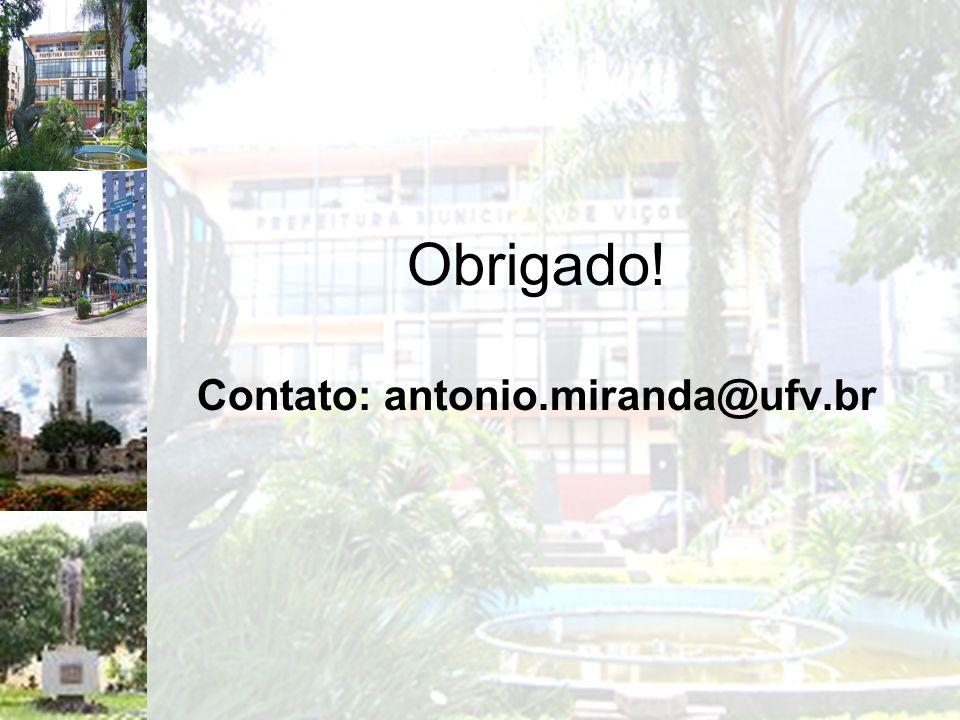 Obrigado! Contato: antonio.miranda@ufv.br