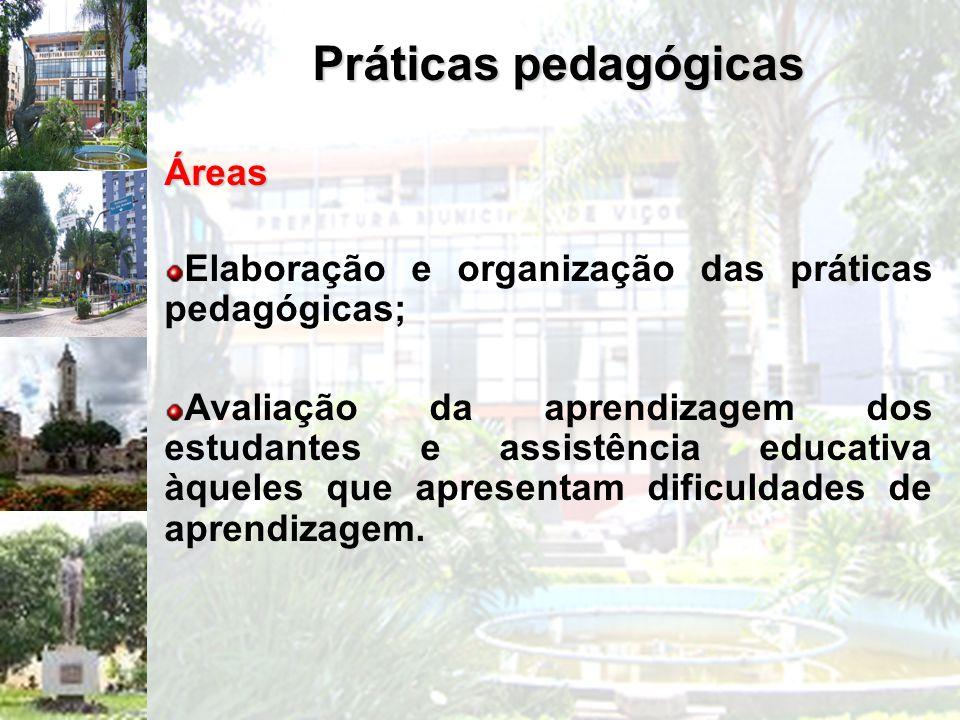 Práticas pedagógicas Áreas