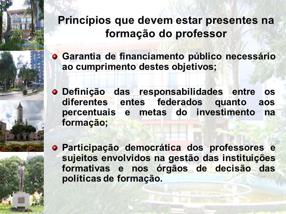 Princípios que devem estar presentes na formação do professor