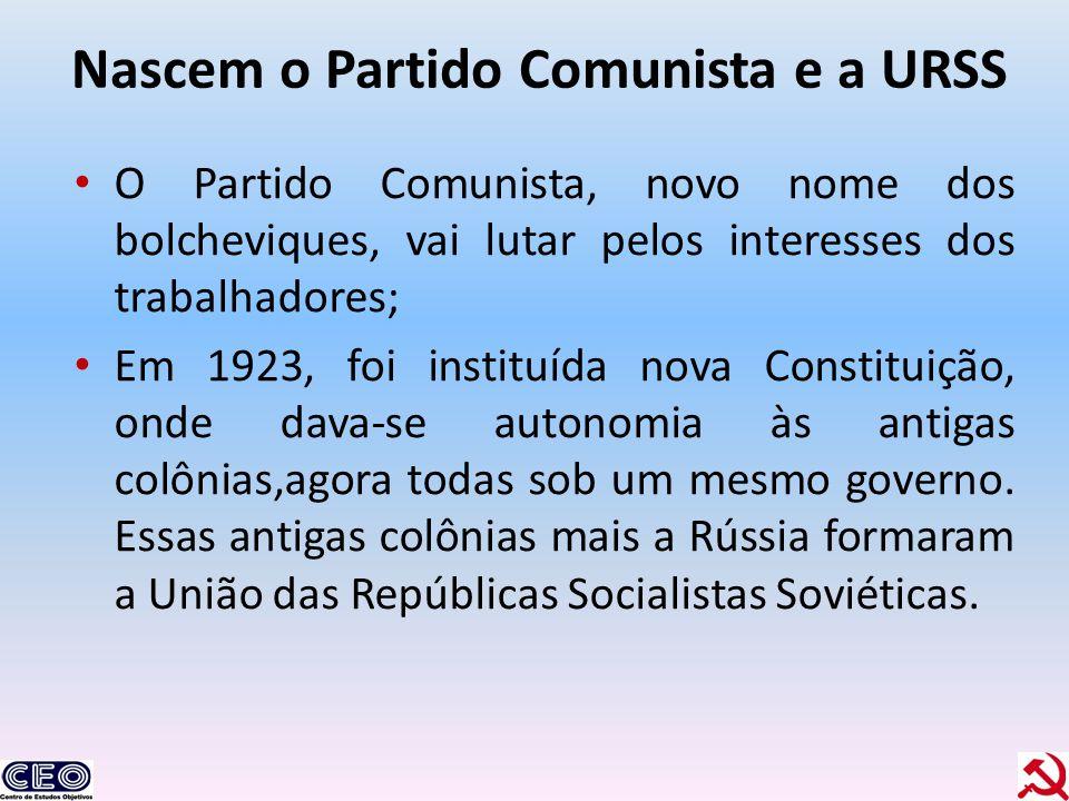 Nascem o Partido Comunista e a URSS