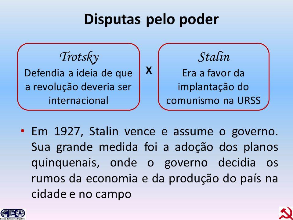 Disputas pelo poder Trotsky Stalin