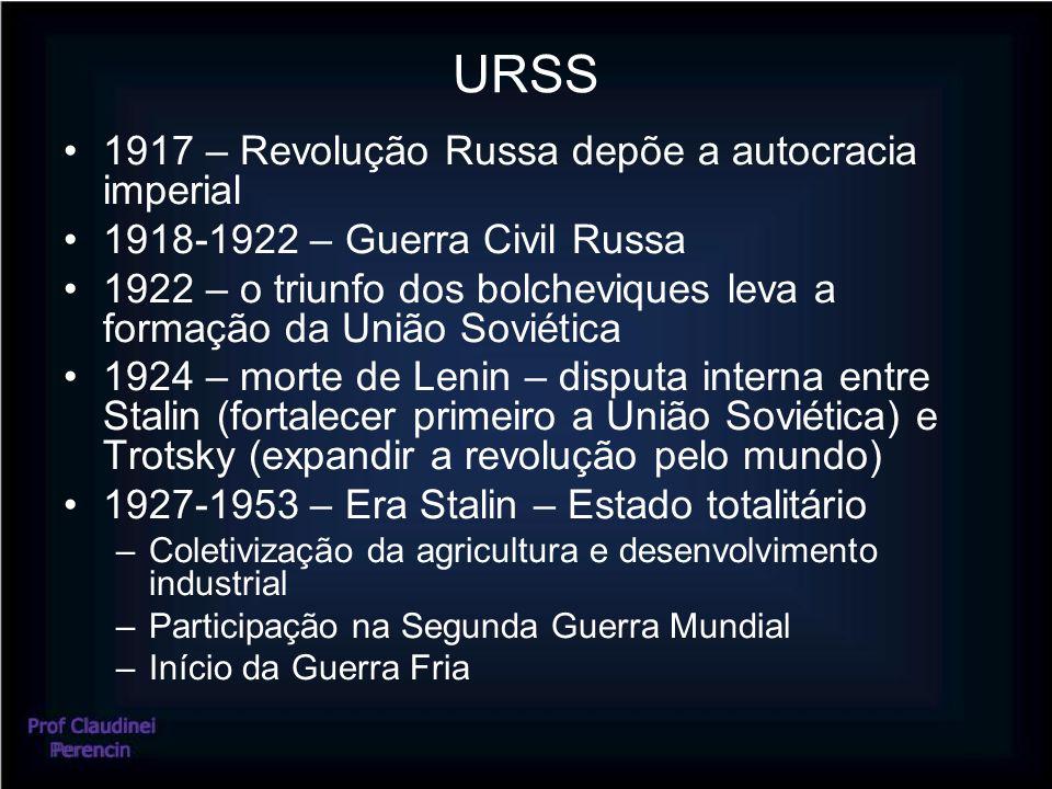 URSS 1917 – Revolução Russa depõe a autocracia imperial