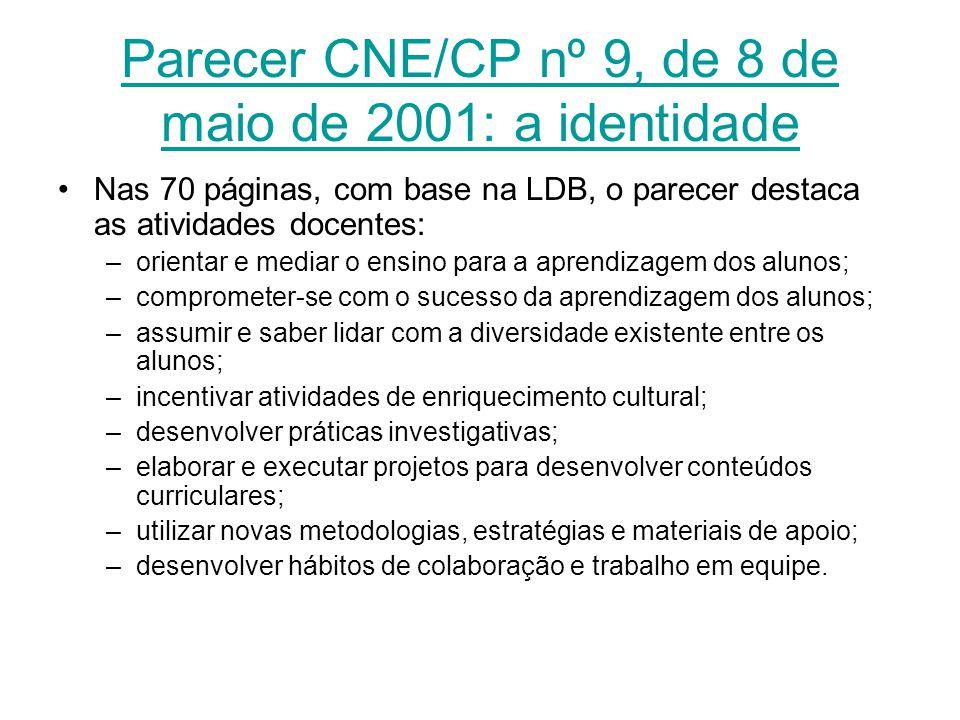 Parecer CNE/CP nº 9, de 8 de maio de 2001: a identidade