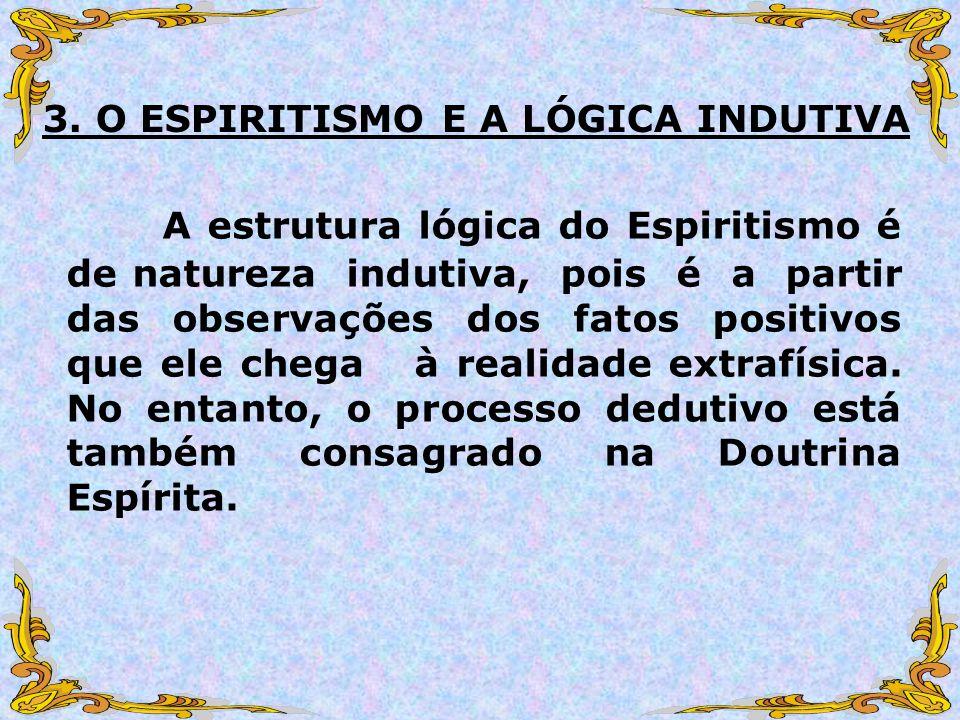3. O ESPIRITISMO E A LÓGICA INDUTIVA