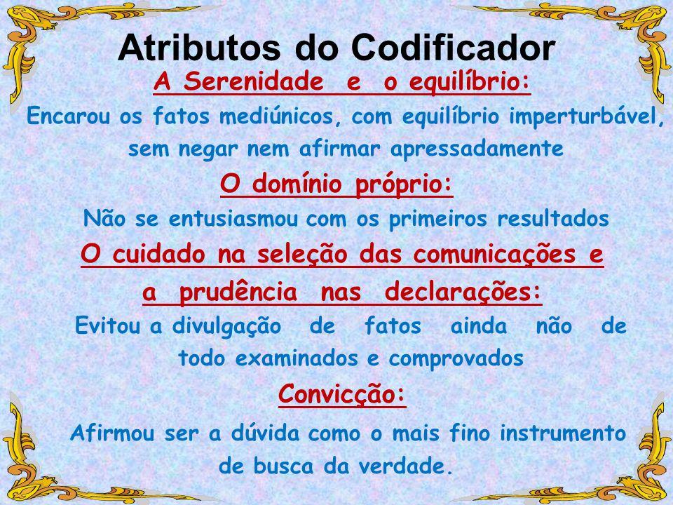 Atributos do Codificador